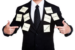 Business man tactics for success. Isolated Stock Photos
