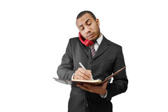 Business man taking notes Royalty Free Stock Photo