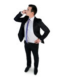Business man talk phone Royalty Free Stock Image