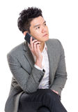 Business man talk on phone Royalty Free Stock Image
