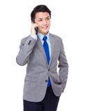 Business man talk to cellphone Stock Photography