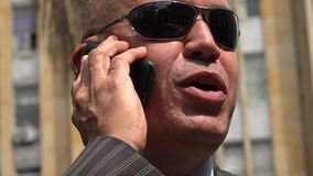 Business Man Talking on Cell Phone stock video footage