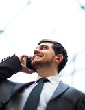 Business man talking on cell phone Royalty Free Stock Photography