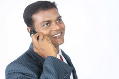 Business man talking on cellphone Stock Image