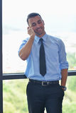 Business man talking by cellphone Stock Photography