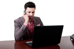Business man talking on his smartphone Royalty Free Stock Photography