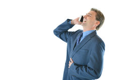 Business man talking and laughing hard Stock Photography
