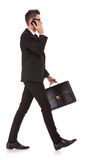 Business man talking on the mobile phone Royalty Free Stock Images