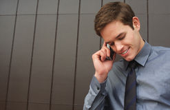 Business Man Talking On Cell Phone Stock Image