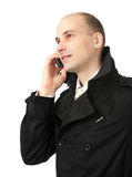 Business man talking on the phone. Handsome business man talking on the phone Stock Photos