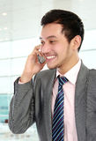 Business man talking on the phone Stock Images