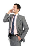 Business man talking on the phone Royalty Free Stock Photo