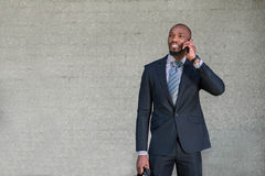 Business man talking on the phone royalty free stock images