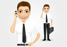 Business man talking on the phone Stock Image