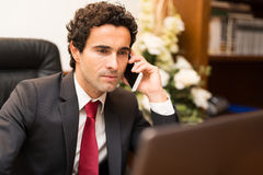 Business man talking on the phone Royalty Free Stock Image