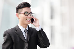 Business man talking on smart phone Stock Photo