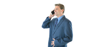Business man talking on smart phone Stock Images