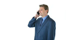 Business man talking smart phone Royalty Free Stock Images