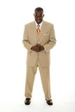 Business Man in Tan Suit Stock Photo