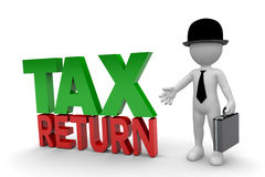Business Man and Tax Return Stock Photography
