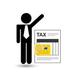 Business man taxes credit card icon design Royalty Free Stock Photos