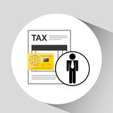 Business man taxes credit card icon design. Vector illustration eps 10 Stock Photography