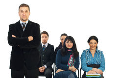 Business man teacher in classroom Royalty Free Stock Photos