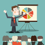 Business Man - Teacher. Vector Illustration Royalty Free Stock Photography