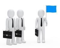 Business man team hold flag Stock Photo