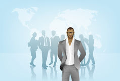 Business man with team Royalty Free Stock Images