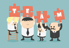 Business man team work, Vector Royalty Free Stock Photos