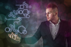 Business Man And Tech Royalty Free Stock Photo