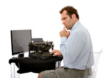 Business man technologies problems Stock Image