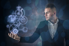 Business Man And Technology Stock Photos