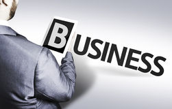 Business man with the text Business in a concept image Stock Photo