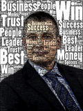 Business Man text cloud Stock Photos