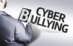 Business man with the text Cyber Bullying in a concept image Royalty Free Stock Images