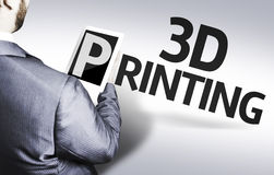 Business man with the text 3d Printing in a concept image Stock Photos