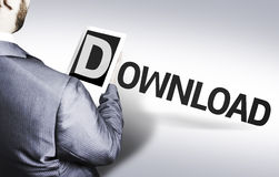 Business man with the text Download in a concept image Stock Photo