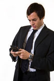 Business man texting Royalty Free Stock Photos