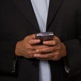 Business man texting Royalty Free Stock Photos