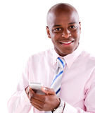 Business man texting on the phone Royalty Free Stock Photo