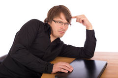 Business man think about a idea Royalty Free Stock Image