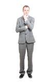 Business man thinking Stock Photo