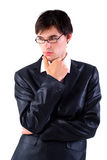 Business man are thinking Royalty Free Stock Image