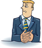 Business man thinking. Cartoon illustration of business man thinking Royalty Free Stock Photos