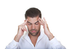 Business man thinking royalty free stock photography