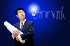Business man thinking an idea Royalty Free Stock Photography