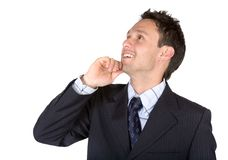 Business man thinking of ideas Stock Photography