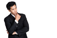 Business man thinking Stock Images